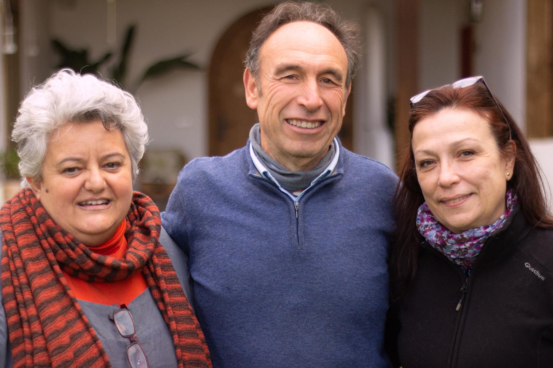 Luz Barba Vera, Julio Arroyo García, Pino Santana Iturralde