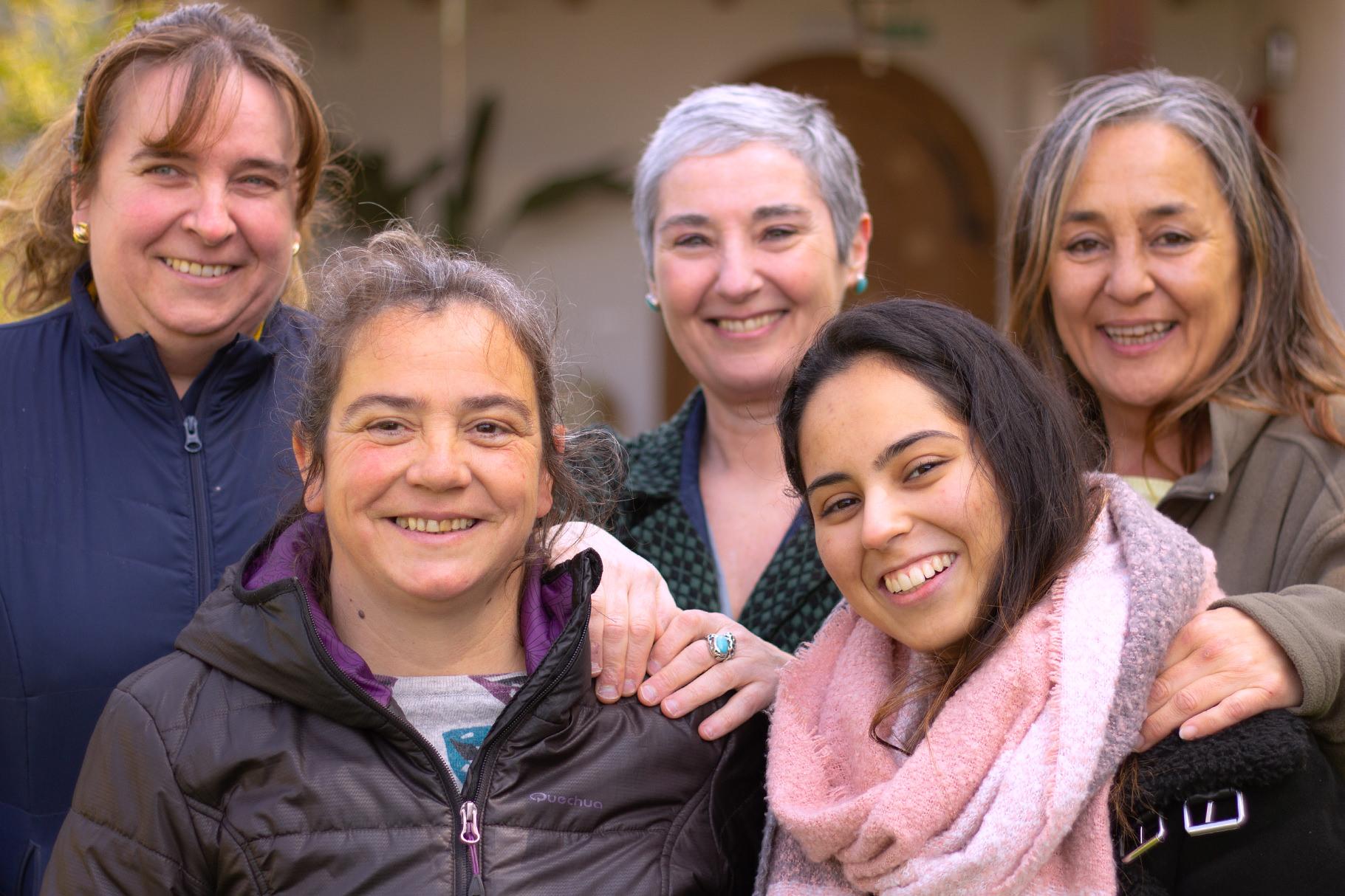 Maite Sanz Fernández, Silveria Hadjerioua, Tere De Carlos Lander, Susana Arraiza Azcona, Rania El Hajjy, Jenny Edith Munive Cárdenas